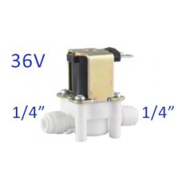 """Elektromágneses, solenoid szelep 1/4"""", 36V, hengeres, Quick"""