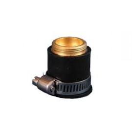 Átalakító adapter, univerzális csatlakozó M22-es külső menettel, Gumi+Fém