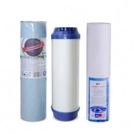 Mosogató alá szerelhető háromfázisú ivóvíztisztító hoz szűrőbetét csomagban
